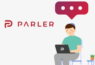 Parler, please remove the Jewish illustration from your front page